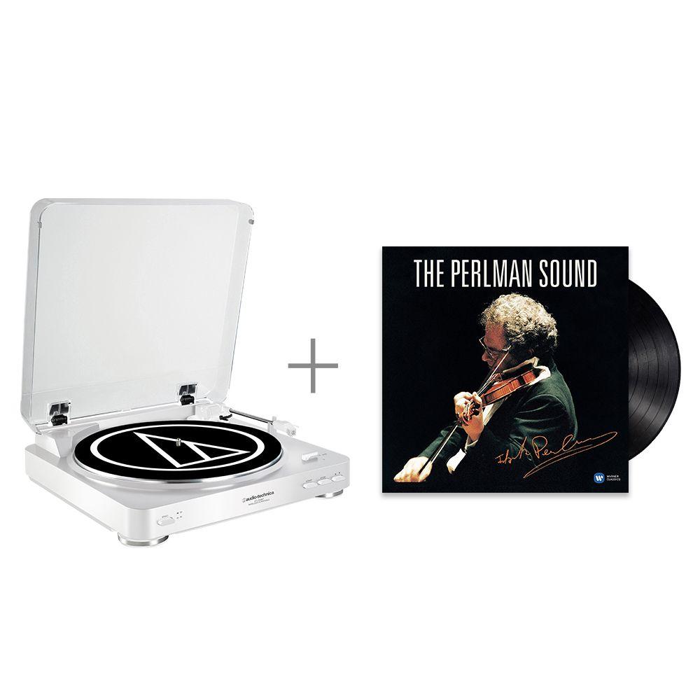 鐵三角 AT-LP60 WH 黑膠唱盤 與 帕爾曼 / The Perlman Sound 黑膠唱片 組合