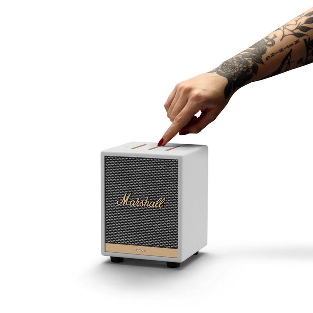 Marshall UXBRIDGE VOICE Google Assistant 白色 智慧語音串流喇叭
