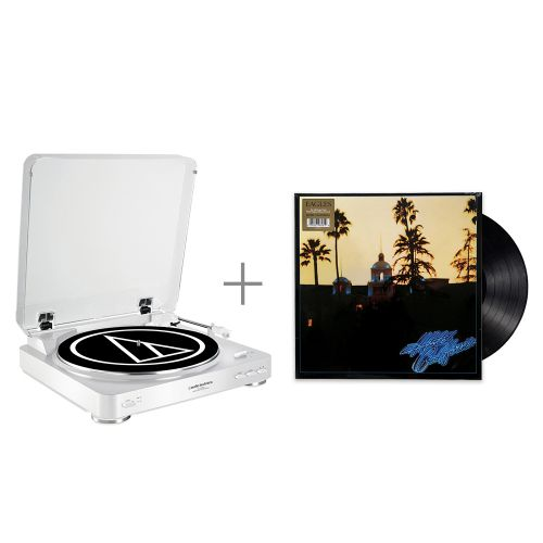 鐵三角 AT-LP60 WH 黑膠唱盤 與 Eag...